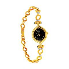 Titan Raga Link Openable Gemstone Gold Watch