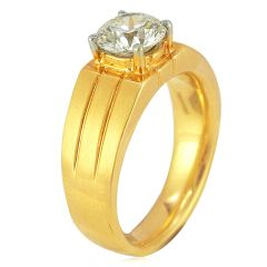 Single Solitaire Mens Diamond Ring - wr145
