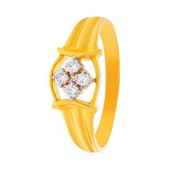 Elite Four Stone Diamond Gold Ring