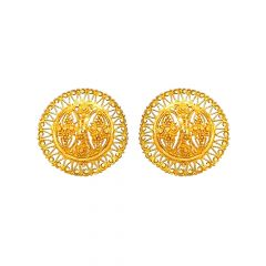 Beaut Filigree Cutout Traditional Gold Earring