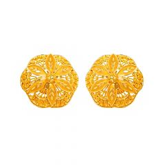 Ceremonial Traditional Engraved Gold Earrings
