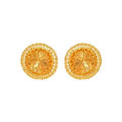Traditional Cutout Floral Stud Earring