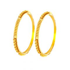 Stunning Traditional Daily Wear Gold Bangles (Set Of Two)