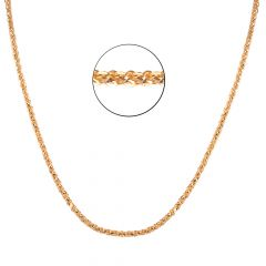 22kt Gold Glossy Finish Curb Links Chain - BBCH03