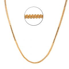 22kt Gold Figaro Links Diamond Cut Flat Chain - BBCH15