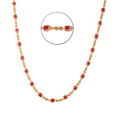 22kt Gold Coral Beads Links Chain - BBCH35