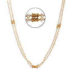 22kt Gold Diamond Cut Pearl Beads Chain - BBCH39