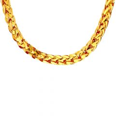 Glossy Finish Plam Tree Gold Link Chain - C5220