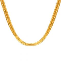 22kt Gold Flat Links Chain - CH-244