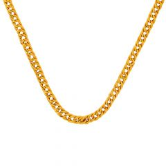 Glossy Finish Curb Link Design Gold Chain