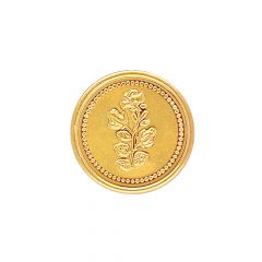 2 Gms 916 Rose Inscribe Gold Coin