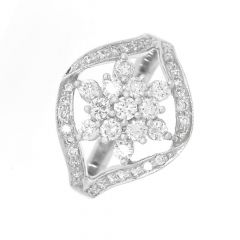 Curled Fortune Diamond Ring -D-LRNG1032-2038
