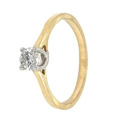 Glittering Prong Set Solitaire Diamond Ring