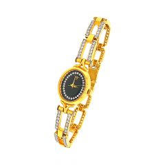 Ravishing Link CZ Wirts Gold Watch