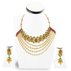 Kundan Necklace set , Sets -GHSC1672