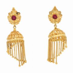 Glossy Finish Layer Drop Gold Ball Jhumki Earring-ET5358