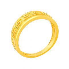 Glossy Finish Imperial Design Band Gold Ring