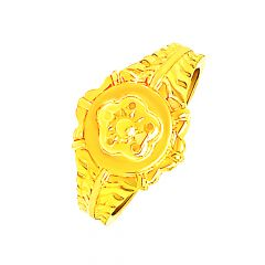 Traditional Engraved Gold Ring For Him