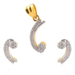 Diamond Pendant Set - PS1168