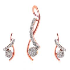 Diamond Pendant Set - PS1311