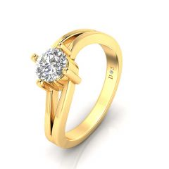 Wavy Shank Solitaire Ring For Her For Her