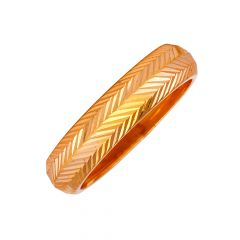 Glossy Finish Diamond Cut Band Design Gold Ring-RG22-306