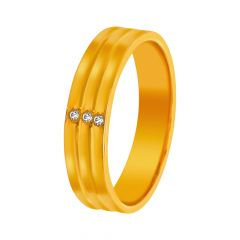 Infinite Grooved CZ Diamond Ring  For Her