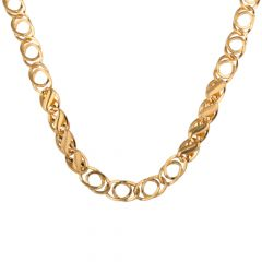 Curb Link Figaro 22kt Yellow Gold Chain - SC3647