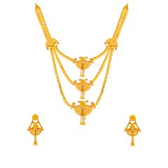 Traditional Layered Gold Necklace Set