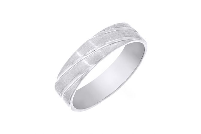 Eternal Engraved Textured Platinum Band
