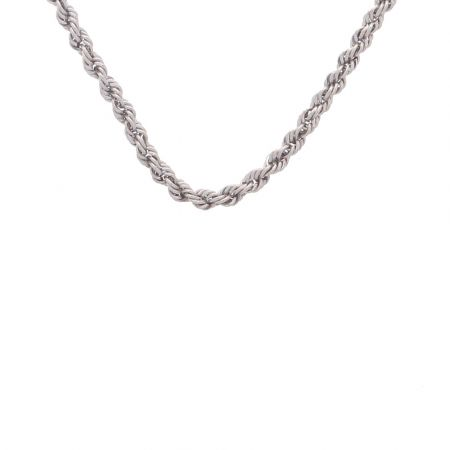 Glossy Finish Linked Design Platinum Chain
