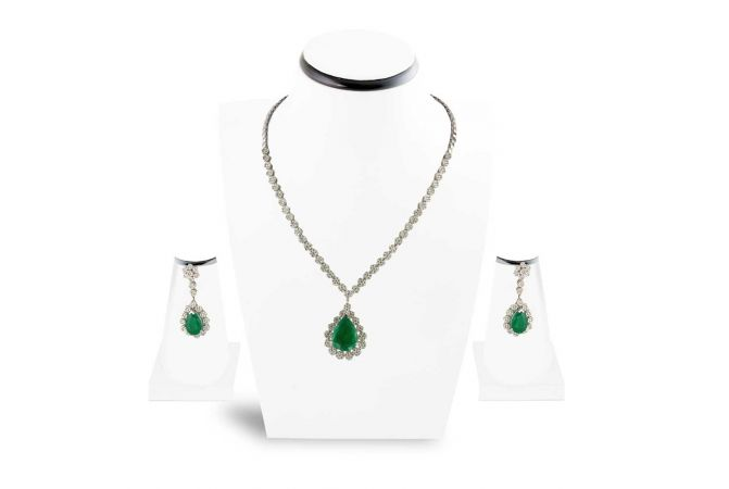 Diamond Necklace set , Sets -14DHS11