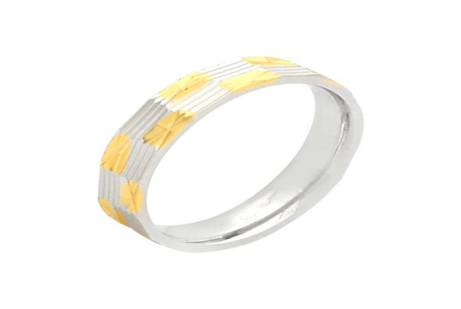 Attractive Engraved Silver Band-S-RNG1032-3334