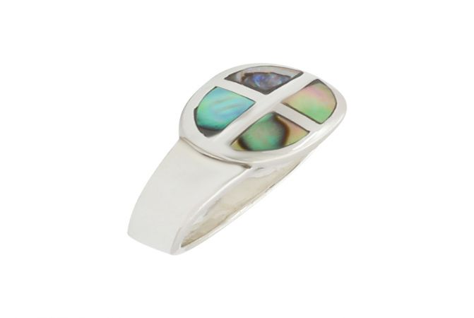 Fancy Mother of Pearl Gemstone Silver Ring-S-RNG1050-3321