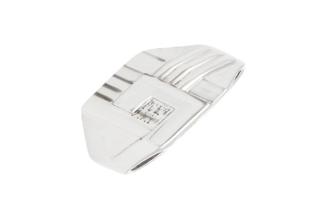 Traditional Grooved Silver Ring For Him-S-RNG1070-3346