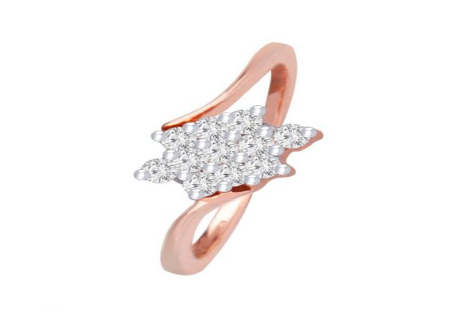 Traditional Cluster 18kt Rose Gold Diamond Ring -DM008RNGAR015303