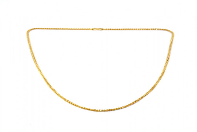 Traditional Rope Daily Wear Yellow Gold 22kt Chain For Men -145-CHN9969