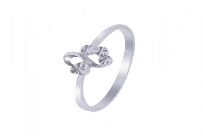 Elegant Textured Heart Daily Wear 925 Silver Ring 145-SRG340