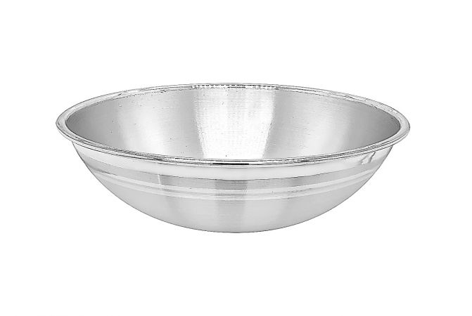 Silver Textured Infant Bowl