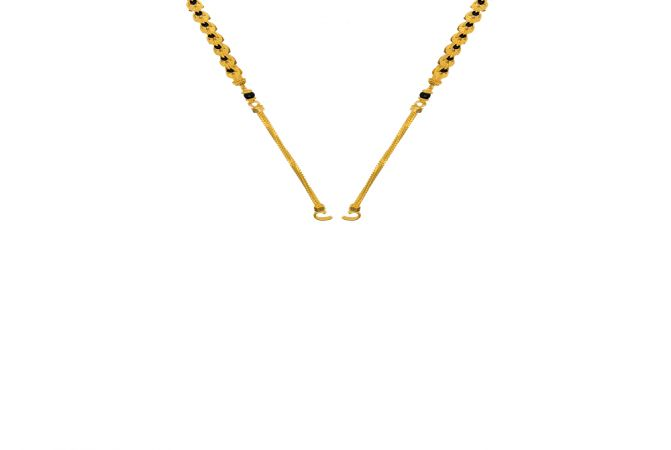 Classic Synthetic Black Bead Gold Mangalsutra