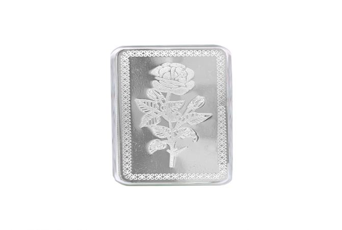 Rose Flower 20 Gms 999 Purity Silver Bar