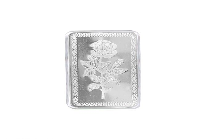 Rose Flower 10 Gms 999 Purity Silver Bar