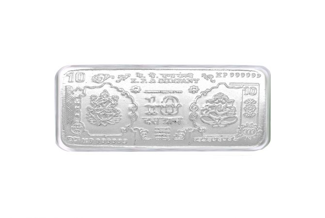 Lakshmi Ganesha 10 Gms 999 Purity Silver Note