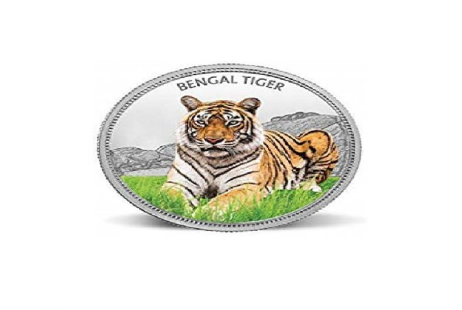 Tiger 31.1 Gms 999 Purity Silver Coin