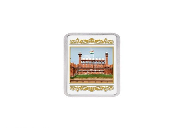 20 Gms 999 Purity Red Fort Kundan Silver Bar