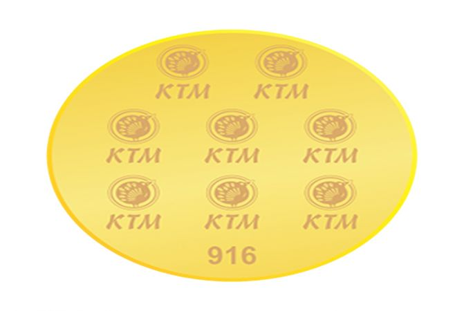 2 Grams 916 Purity KTM Gold Coin-SKTM-7118A2