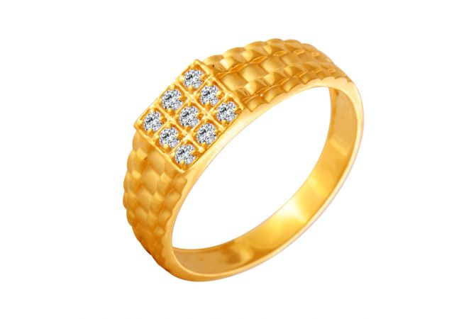Enchanting Nine Stone CZ Diamond Ring For Him