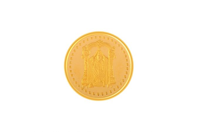 916-10 Gms Tirupati Balaji Inscribed Gold Coin