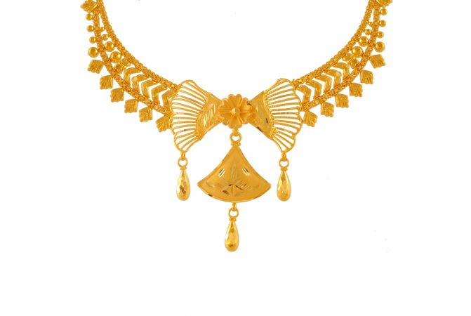 Majestic Traditional Gold Necklace