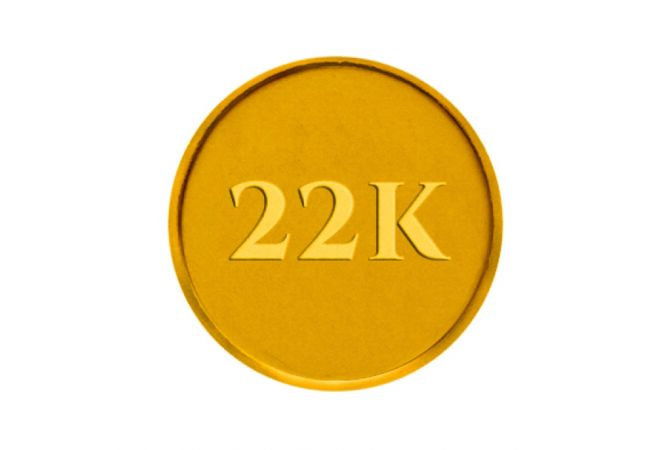 2 gm 916 (916) Yellow Gold Coin